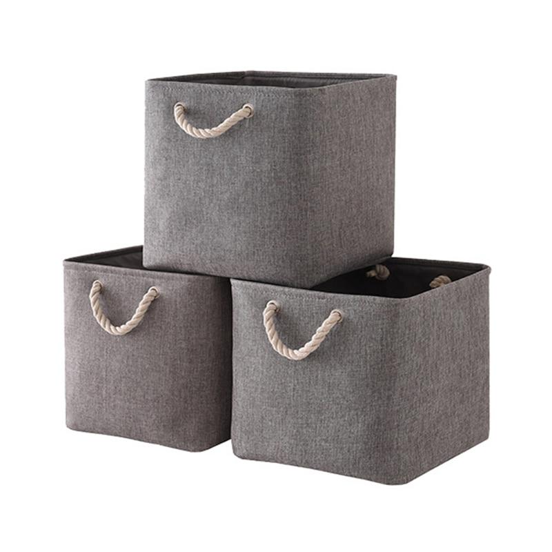 سلال الجرف للتخزين (3 حزمة) سلات تخزين النسيج للأرفف ، سلال مجموعة لتنظيم الملابس ، الحضانة ، الغسيل