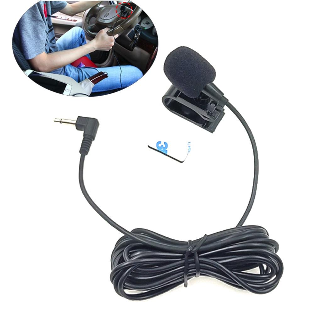 Mini profesionales de Clip de 3,5mm Jack macho Micrófono estéreo de Audio de coche micrófono Cable de micrófono externo para Auto DVD Radio