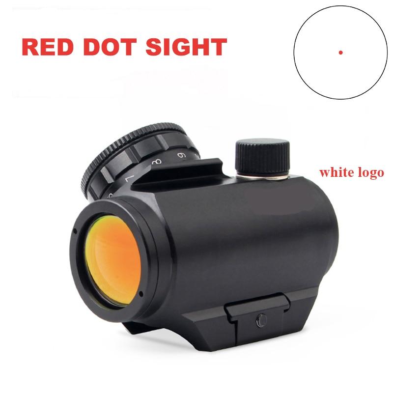 1X20 белая надпись красная точка прицел 3MOA HD сетка матовый черный