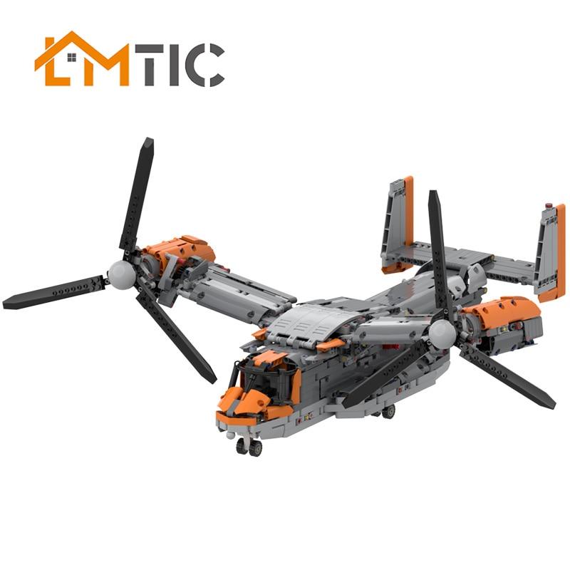 MOC Osprey aviones de combate bloques de construcción Diy nuevo estilo avión educativo para padres-niños juguetes ladrillos juego Regalo de Cumpleaños de Navidad