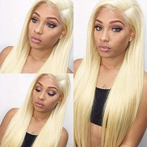 Fake Scalp PU Silk Base Lace Front Human Hair Wigs Natural Baby Hair Pre Plucked Hair Line Straight Brazilian Remy Hair613Blonde
