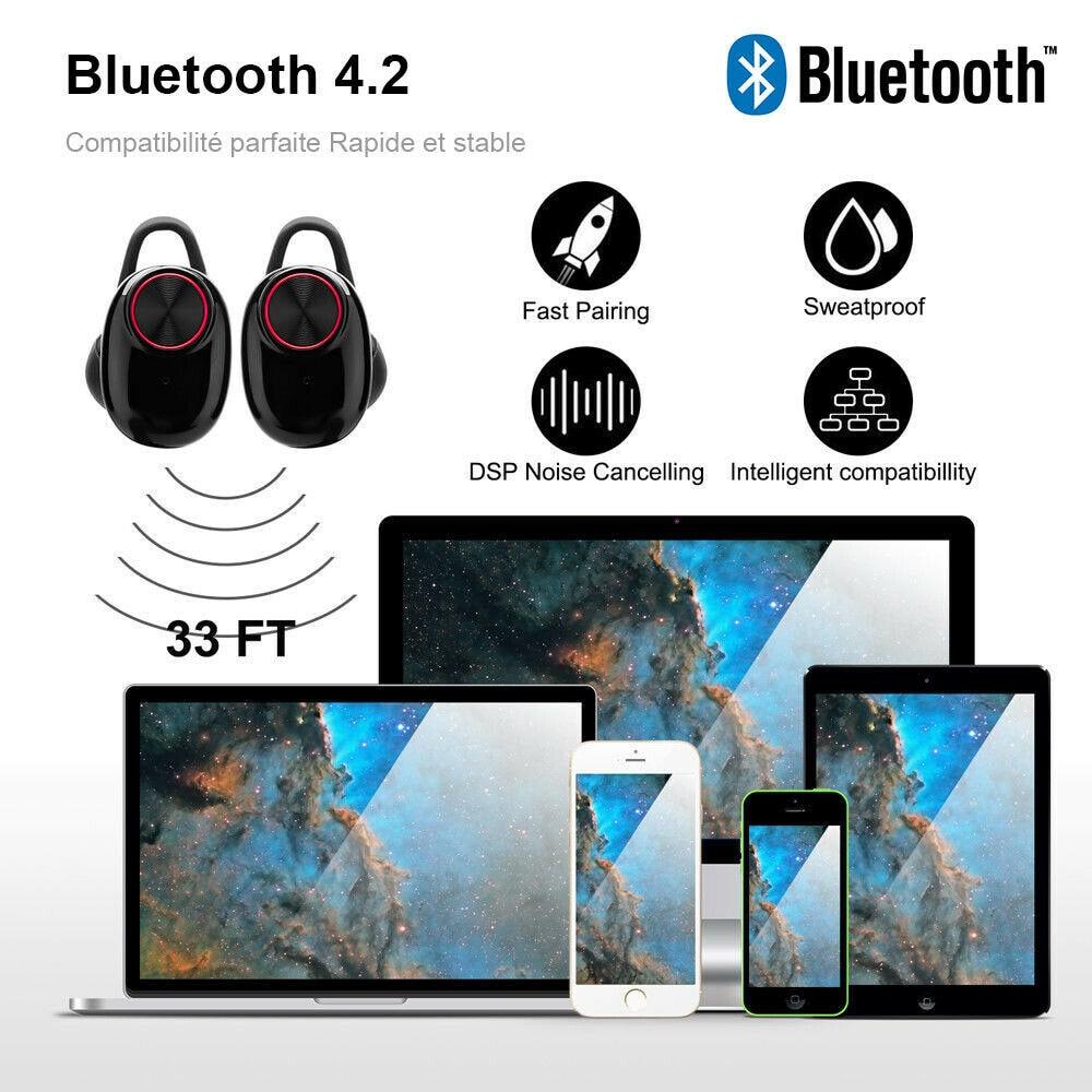 Écouteur Bluetooth Sans Fil Oreillette Stéréo Microphone avec Boîte de Recharge enlarge