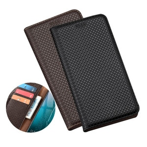 Luxury Genuine Leather Wallet Phone Bag Card Pocket Case For OPPO Realme C11/OPPO Realme C3/OPPO Realme C2 Flip Cover Coque Capa