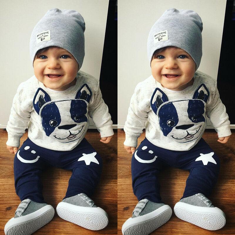 Trajes de bebé Niña 0-18M 2 piezas camiseta + Pantalones conjunto de ropa de otoño para niño