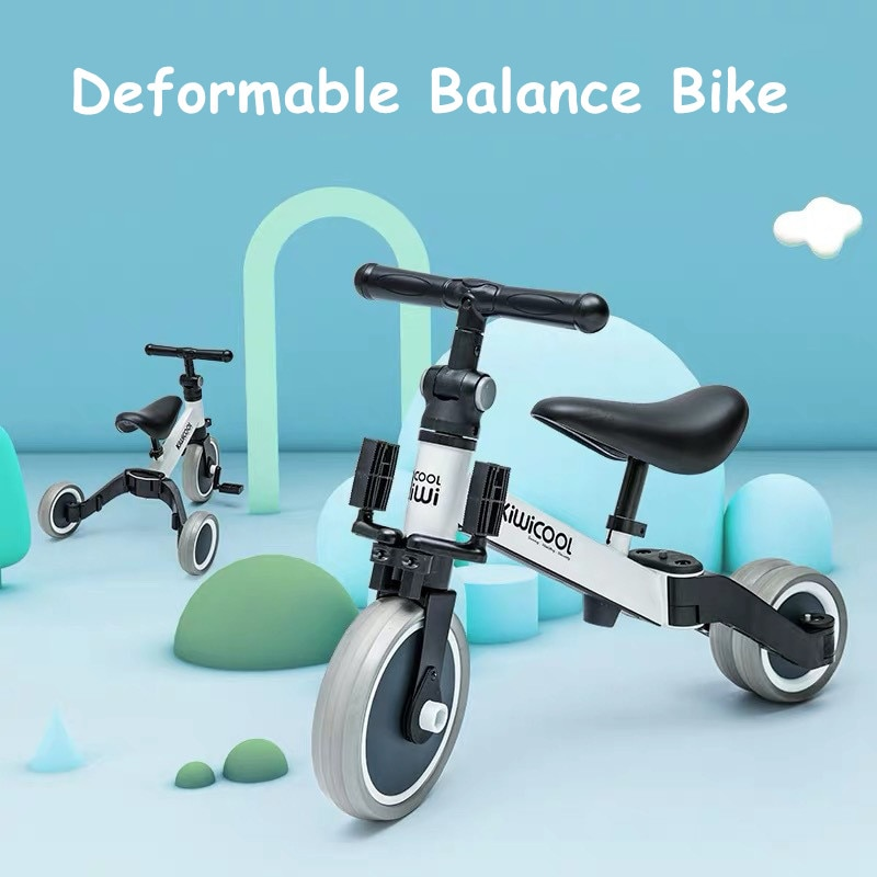Infant Shining Children's Tricycle 3-in-1 Children's Scooter Balance Bike 1-6 Years Ride on Car 3 Wheels Non-inflatable