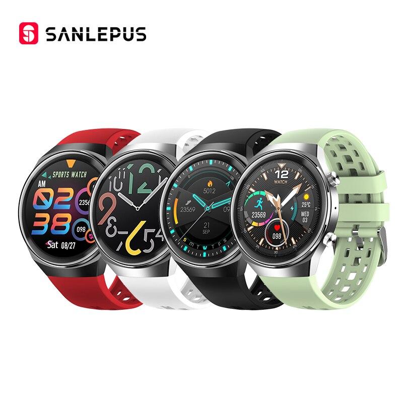 2021 SANLEPUS QS8 ساعة ذكية جديدة مع مكالمات الهاتفي الرجال النساء مقاوم للماء Smartwatch اللياقة البدنية سوار أندرويد هواوي أبل