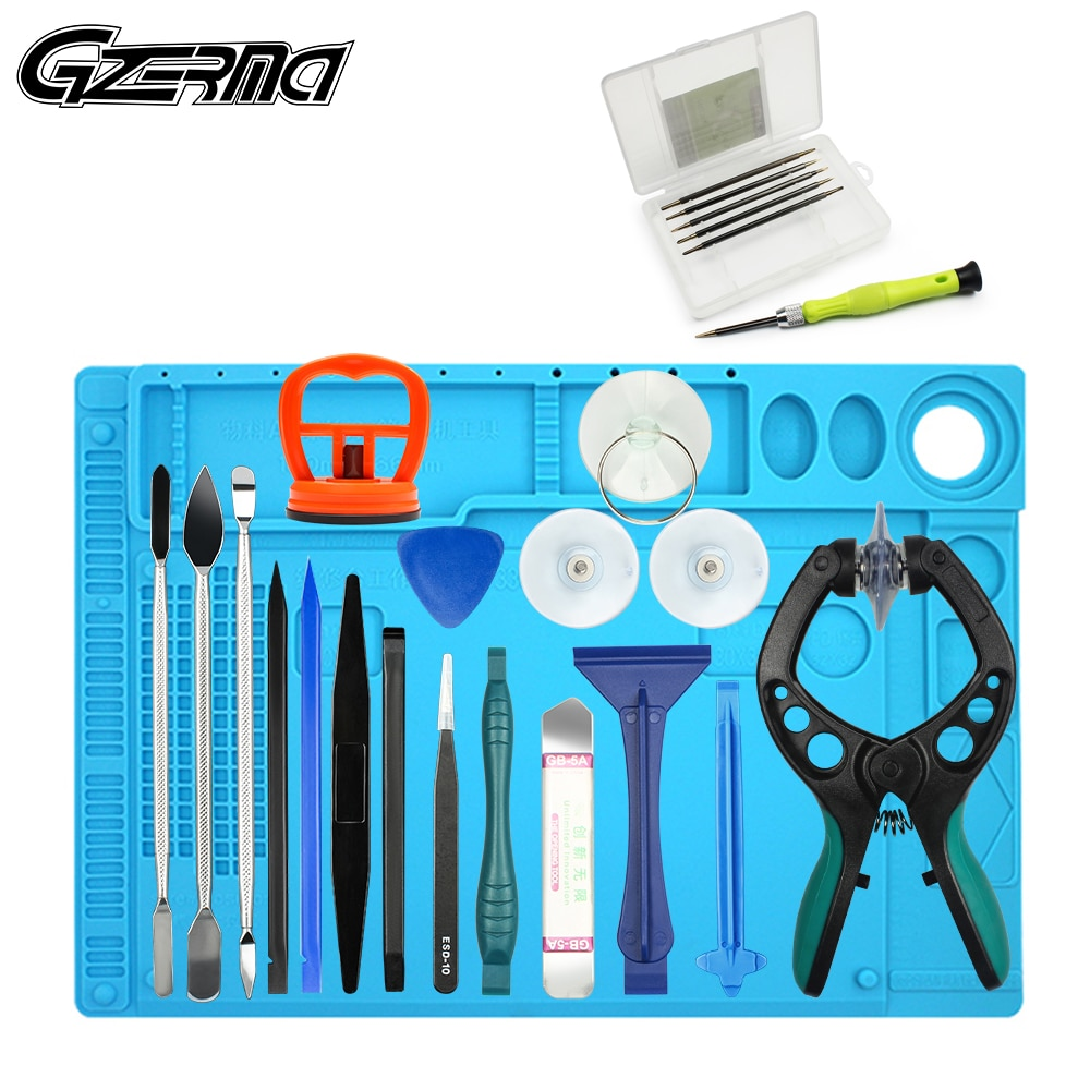 AliExpress - 25 in 1 Professional Screwdriver Cell Phone Repair Tools Kit For Xiaomi Mi9 9t Pro Repair Tools Kit With Heat Insulation Pad