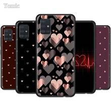 Funda de Animal lindo Corazón de amor para Samsung Galaxy A51 A71 A50 A20 A30 A40 S20 Ultra 5G S10 Plus negro suave cubierta de teléfono Nota 10 Lite