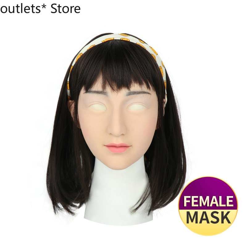Silicone Mask Transgender Realistic Skin Crossdresser Silicone Shemale Latex Sexy Cosplay for Male Real Halloween Party Supplies