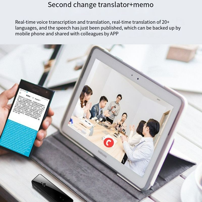 V80 Smart Voice Recorder Voice To Text Recorder Pen Mini USB 16GB Storage Mp3 Player Recording for Lectures Notes 20 Language enlarge