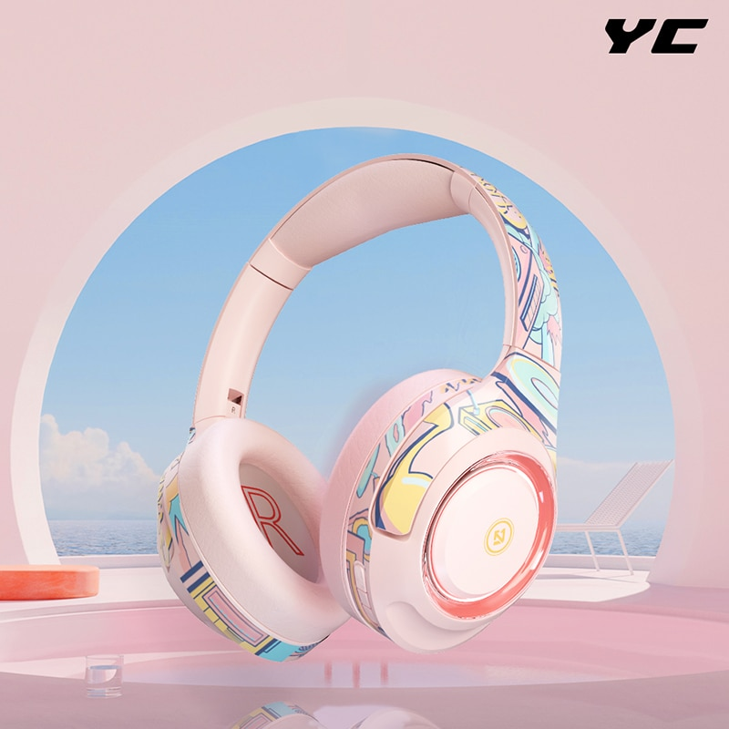 YC Wired Headset Gaming Noise Cancelling Headphone Cute Wireless With Microphone No Delay for Xbox P