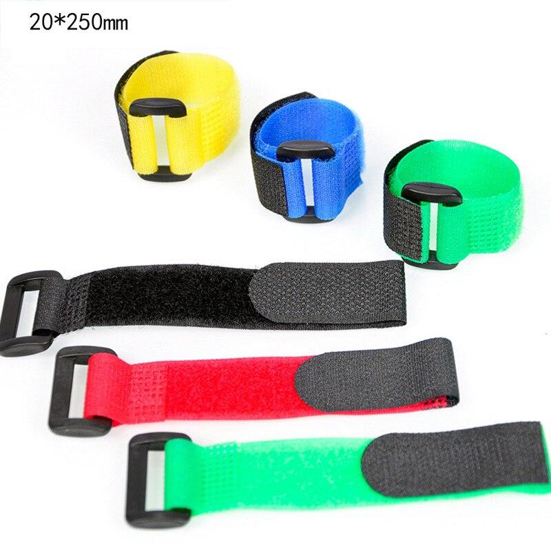 5 pces 2x25cm fita adesiva fita de ligação velcro reverso fivela fita velcro cinta com fivela laço cinta cabo laços
