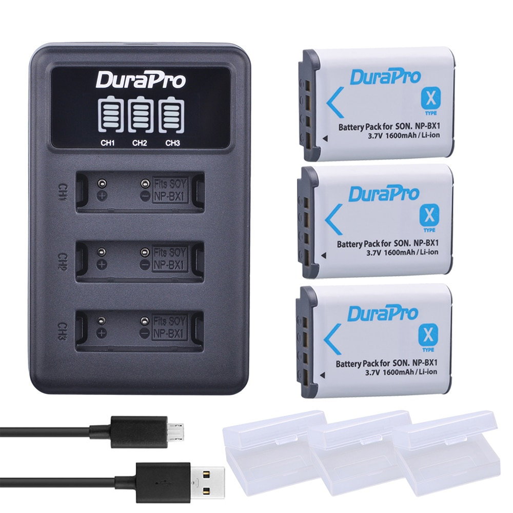 2pc NP-BX1 np bx1 npbx1 bateria + led 3 portas carregador usb para sony dsc rx1 rx100 rx100iii m3 m2 wx300 hx300 hx400 hx50 hx60 gwp88