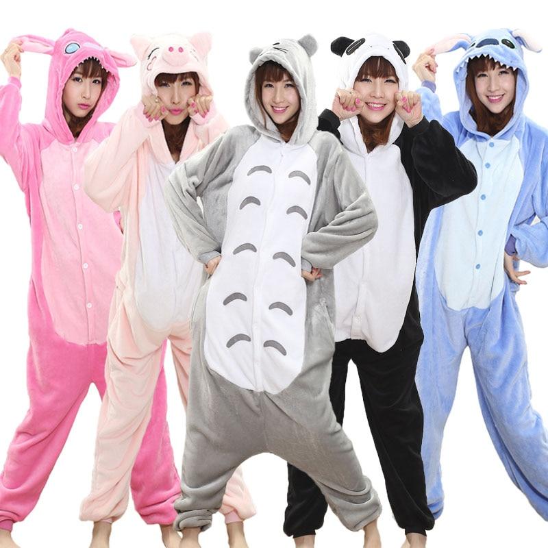 Пижама кигуруми, мягкая теплая зимняя пижама для косплея для взрослых