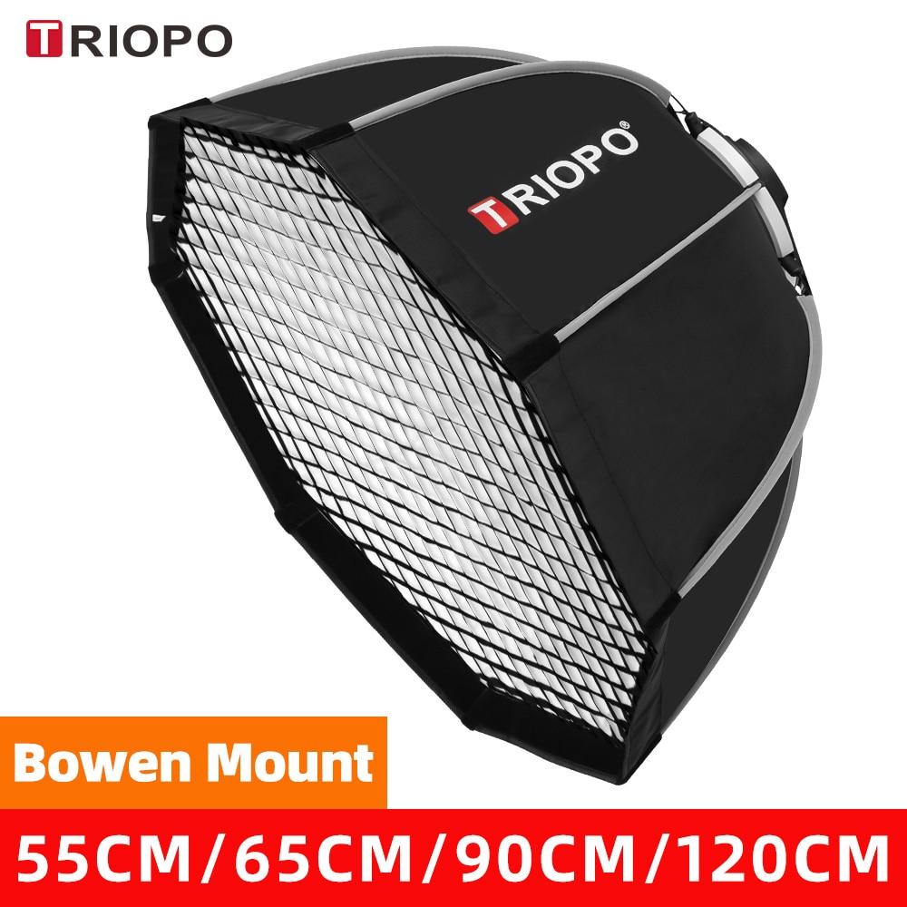 Triopo 55cm 65cm 90cm 120cm Bowens Mount Octagon Umbrella Outdoor SoftBox + Carrying Bag for photography Studio Flash Softbox