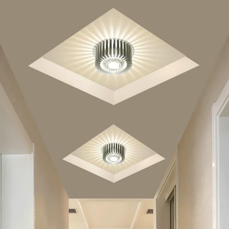 Contemporânea 3 w conduziu a lâmpada do teto criativo interior corredor lâmpada arandela branco quente luminária decoração