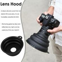 Protective Universal Hood Anti-reflective Silicone Lens Hood Fashion Ultimate Lens Hood for Nikon Olympus Pentax Canon Camera