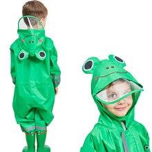 90-135CM impermeabile impermeabile Verde per i bambini bambini bambino cappotto di pioggia poncho bambino cappotto di pioggia pioggia tuta