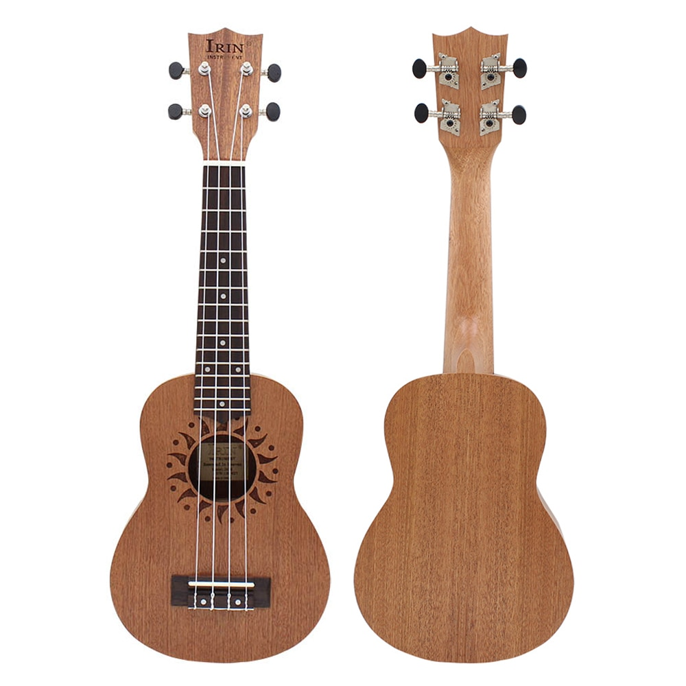 21 Inch Ukulele 4 Strings Hawaiian Guitar Sapele Sun Flower Soprano Ukulele Beginner Kids Musical Instrument Gifts Mini Guitarra