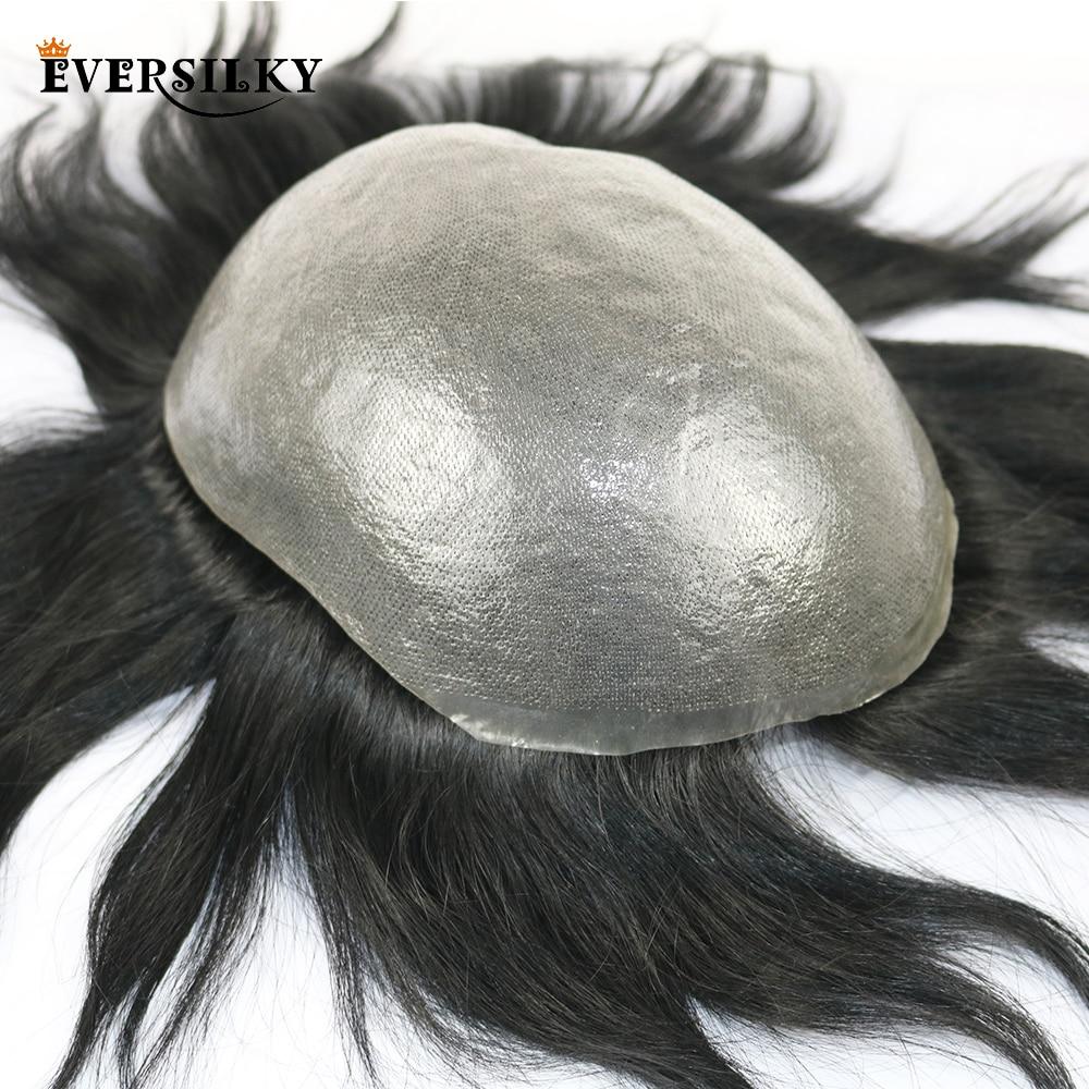 Everحريري 100% ريمي الشعر البشري دائم بو شعر مستعار للرجال خط الشعر الطبيعي استبدال نظام مان شعر مستعار