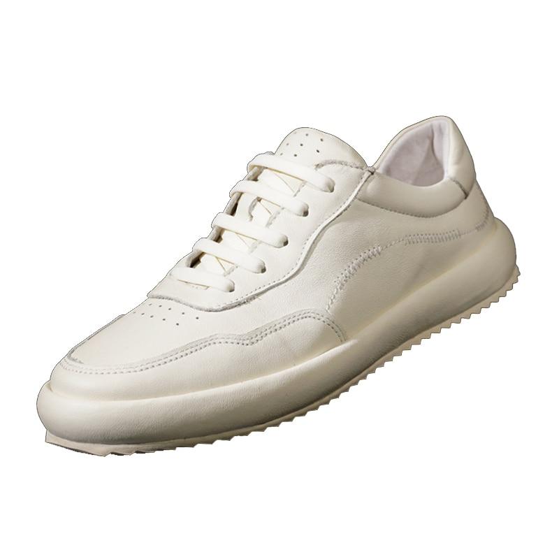 designer shoes men high quality Genuine Leather breathable sneaker fashion autumn winter British retro men shoes cowhide