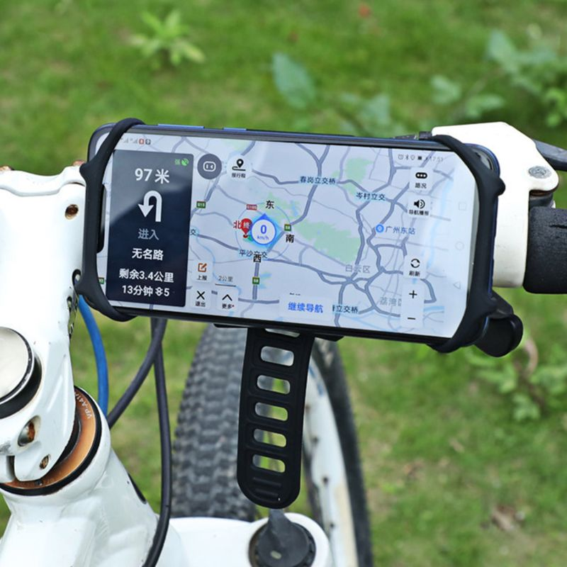 À prova de choque Rotatable Telefone Suporte para Bicicleta 360 ° Rotação Montar Titular Do Telefone Silicone XXUF