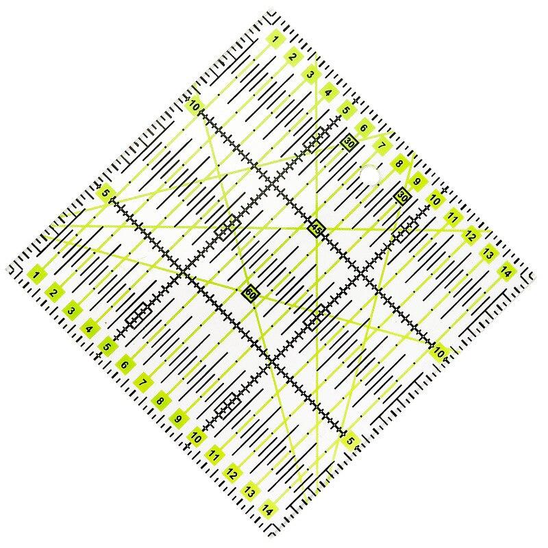 Regla para tela acrílica de 15x15cm, regla para tela para Patchwork, DIY, costura, bordado, Yardstick, regla para herramientas de dibujo a escala artesanal