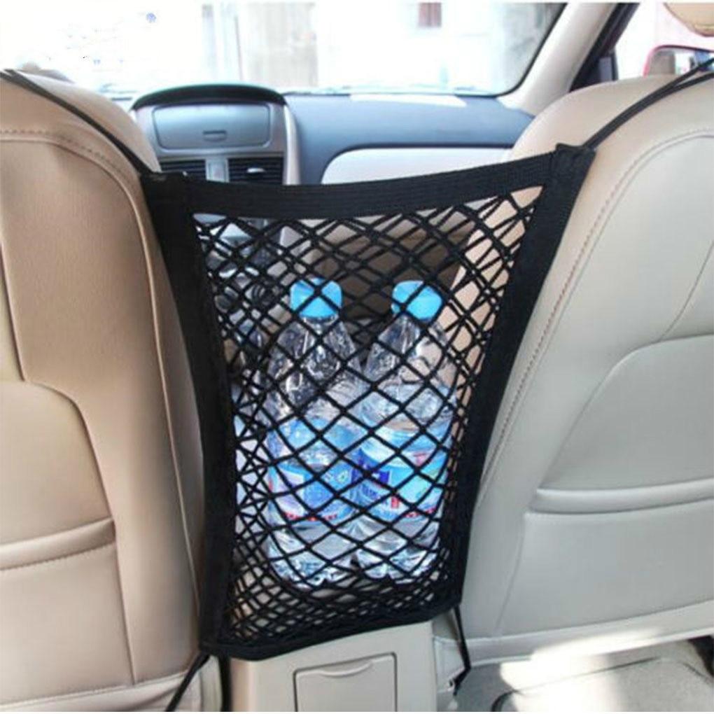 Car Mesh Net Bag Between Car Organizer Seat Back Storage Bag Luggage Holder Pocket for Car Styling