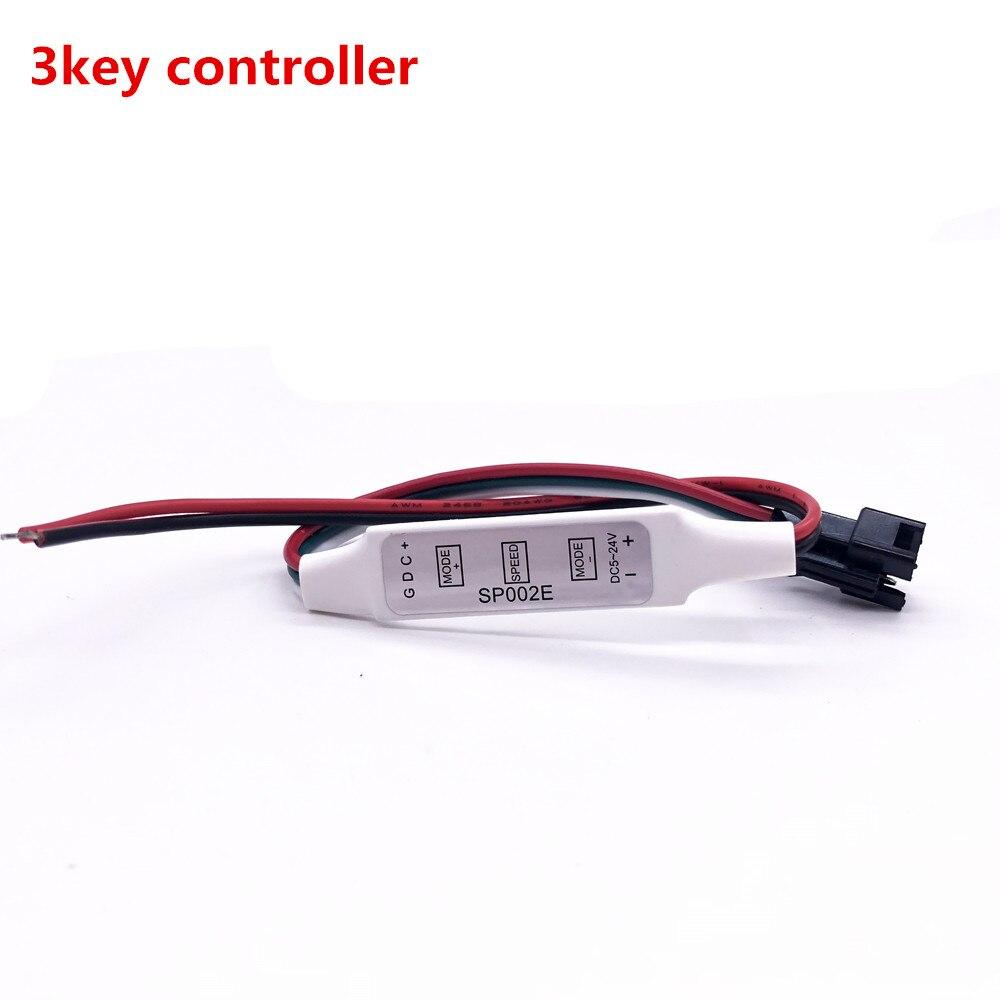 Mini 3keys 14keys 21keys RGB IR RF Remote controller, for WS2811 WS2812B WS2813 APA102 strip controller