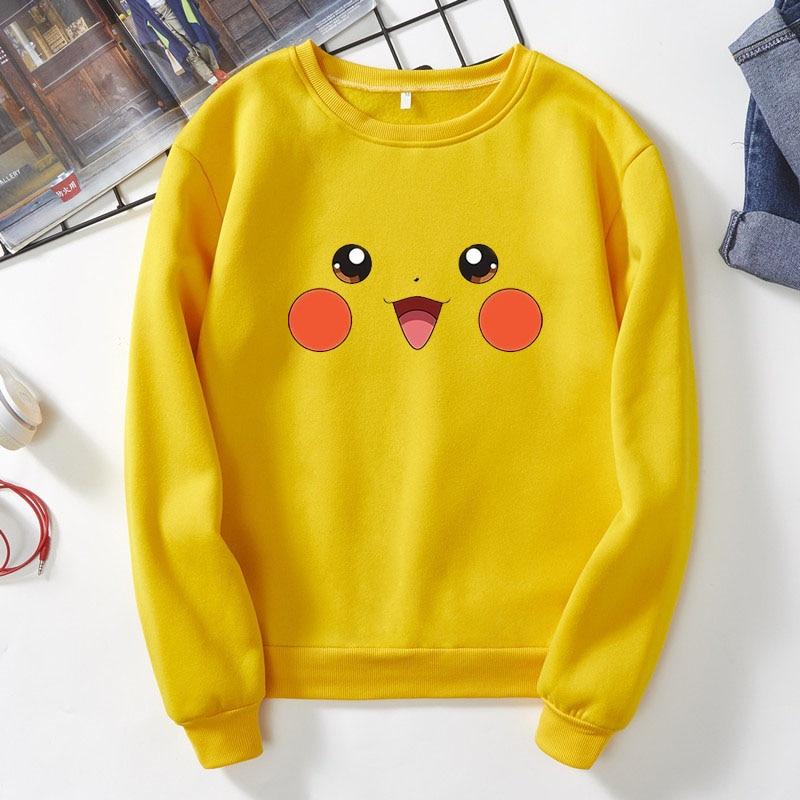 Cute Bikachu cartoon image cute cartoon Harajuku Sweatshirt Japanese super popular idol cartoon Bikachu sweatshirt