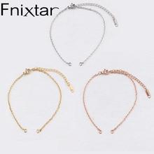 Fnixtar Stainless Steel DIY Chain Bracelet  Making Jewelry Accessories 2mm Thickness 18+6cm 20+6cm 20pcs/lot