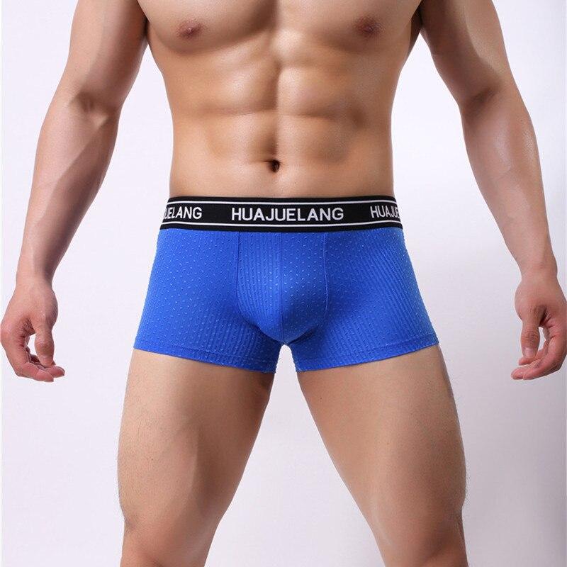 Трусы-боксеры мужские сексуальные мужские трусы-боксеры, мягкое дышащее нижнее белье, нейлоновые однотонные, шорты-боксеры