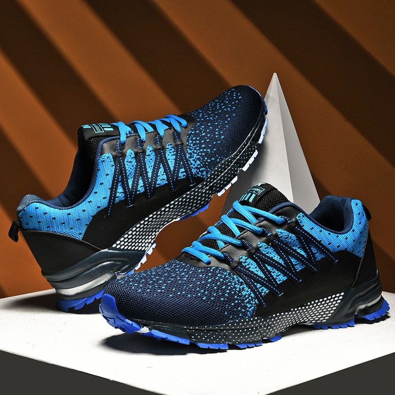 Zapatillas Hombre Zapatos Hombre Casuales Zapatillas de deporte de malla para hombre, zapatos para correr con colchón de aire de talla grande