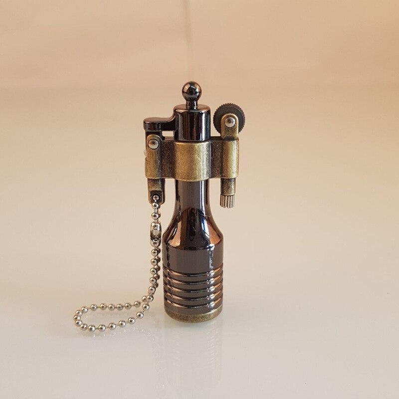 aliexpress.com - Retro Free Fire Torch Lighter Flint Grinding Wheel Oil Lighter Key Chain Metal Cigar Cigarette Lighter Gadget For Man