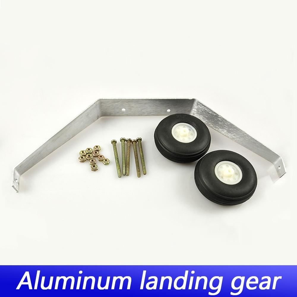 1 Juego de aleación de aluminio de Taildragger Triciclo de aterrizaje w/dirección rueda de cola para RC avión espaà a