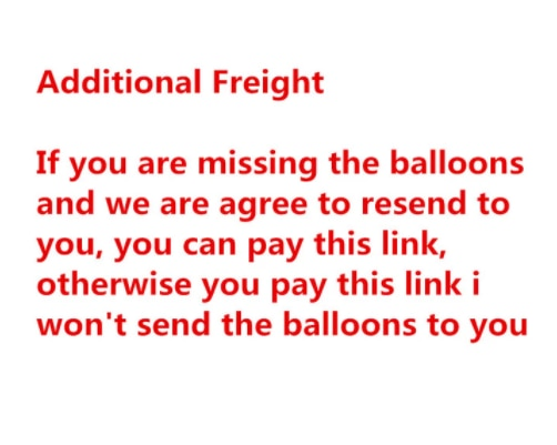 This link is only for re-sending packages for goods with quality problems