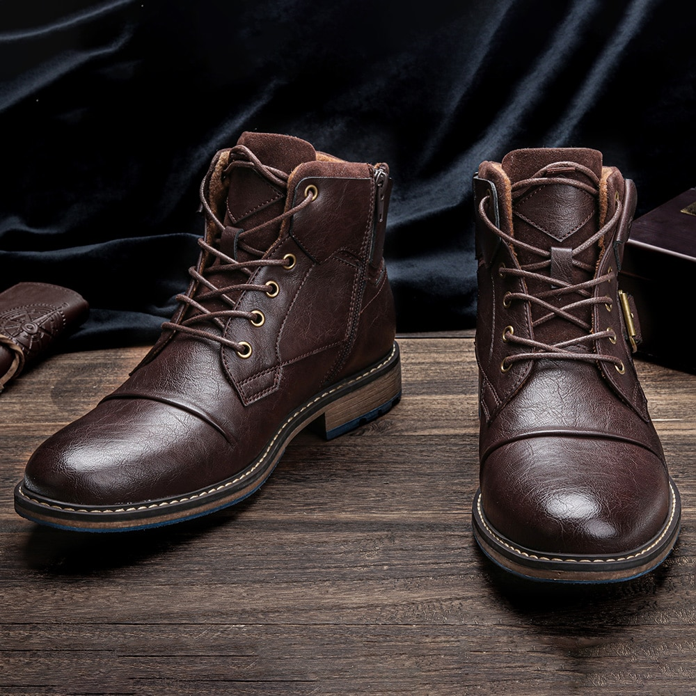 Männer stiefel Größe 8-12 WOOTTEN marke 2021 mode komfortable herren leder schuhe # AL602