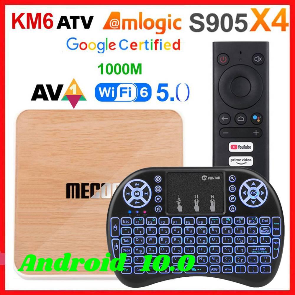Mecool KM6 Amlogic S905X4 Smart TV Box Android 10.0 ATV 4GB RAM 64GB ROM Deluxe 2.4/5G WiFi BT Set t
