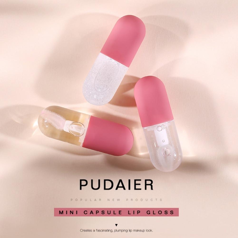 Natural Lip Plumper,Small Capsule Design,Transparent Lip Gloss,Temperature-varying Lip Gloss, High-gloss Moisturizing Lip Gloss фото
