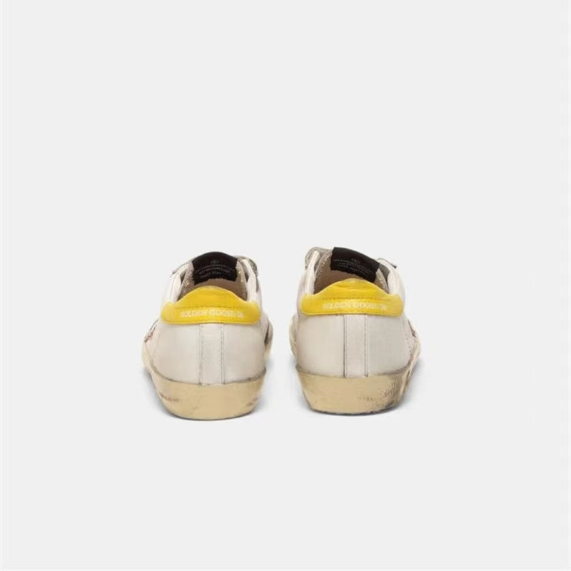 Spring and Summer New First Layer Cowhide Children's Old Small Dirty Shoes Boys and Girls Casual Velcro  Kids Sneakers QZ16 enlarge