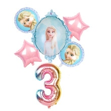 6pcs 32inch Number Elsa Anna Disney Frozen Princess Helium Balloons Baby Girl Foil Globos Birthday P