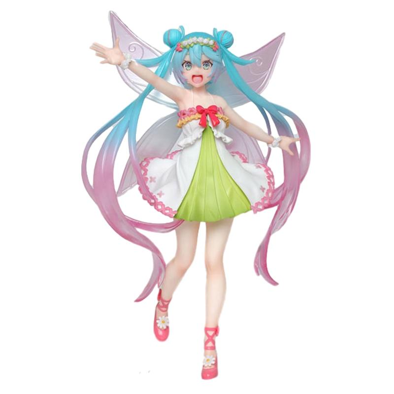 Anime modelo hatsune miku quatro estações primavera roupas borboleta fada figura de ação boneca decoração brinquedo presente