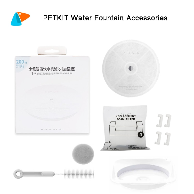 PETKIT Filter Units for EVERSWEET 2 and EVERSWEET 3 Water Fountain, Replacement Filters (5 Pcs), Cleaning Kit Pet Supplies