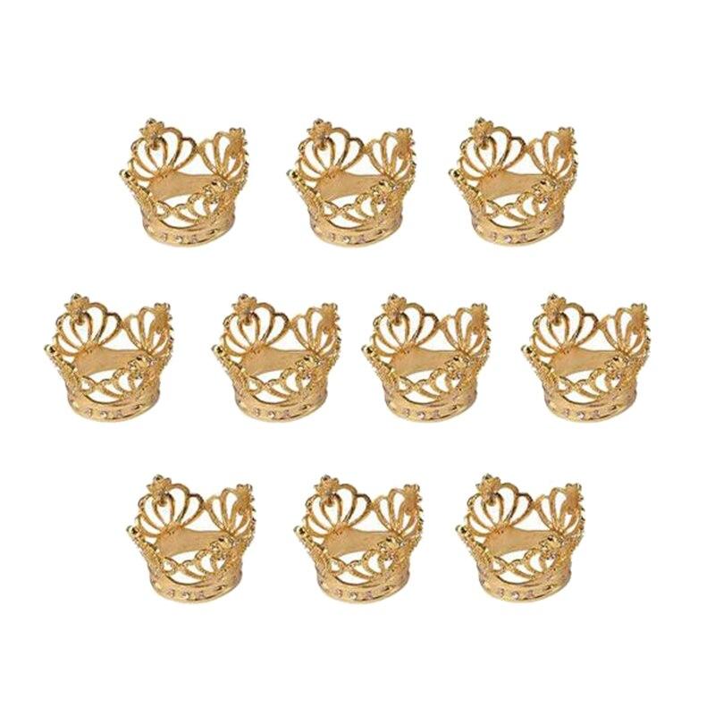 6 قطعة/الوحدة تاج منديل حلقة حلقة الأنسجة المعدنية منديل مشبك مناسبة ل حفل زفاف مأدبة عطلة الديكور