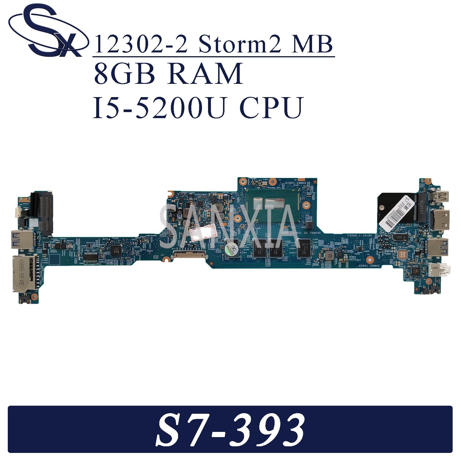 Placa base para ordenador portátil KEFU 12302-2 para Acer S7-393 placa base...