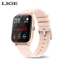 New LIGE Men Women Smart Watch Blood Pressure Measurement Heart Rate Monitor Smartwatch Full Color Touch Screen montre connecte