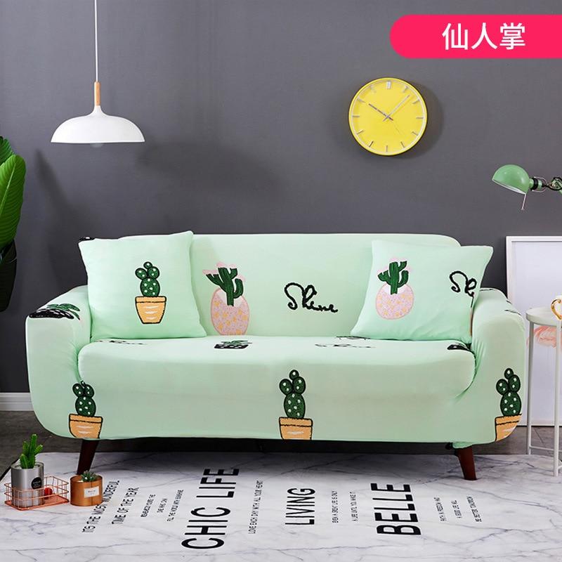 Cubierta elástica de sofá para sala de estar, fundas para sofá, Protector de muebles, funda de sofá, Spandex elástico 1/2/3/4 asientos