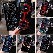 KPUSAGRT Luxury car instrument cluster Soft Rubber Phone Cover for Samsung S20 plus Ultra S6 S7 edge
