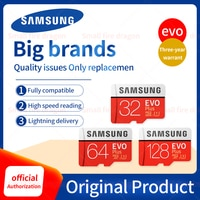 Original SAMSUNG Grade EVO+ Class 10 Memory Card 32GB 64GB 128GB Micro SD Card SDHC SDXC Class 10 UHS TF Card Trans Flash