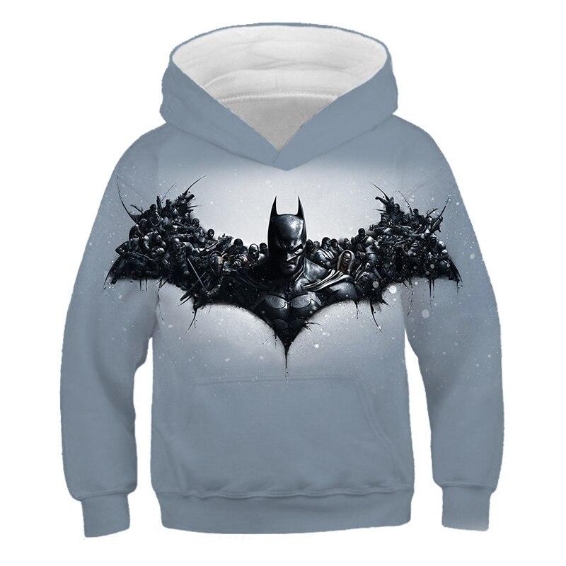 2019 new batman hot sale 3d hoodies sweatshirts Superhero kids cosplay Avenger boys and girls hoodies